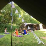 "Yoga and Meditation in ""The Hollow"" at Dreamy Hollow Campsite"