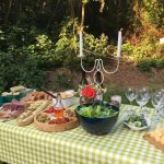 A Table full of Wholesome Foods at Dreamy Hollow Campsite in North Norfolk