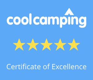 Dreamy Hollow - recommended by Cool Camping - Certificate of Excellence - Five Stars